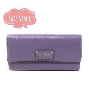 New Kate Spade lush lilac envelope foldable wallet
